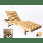 Дървен шезлонг Olivia