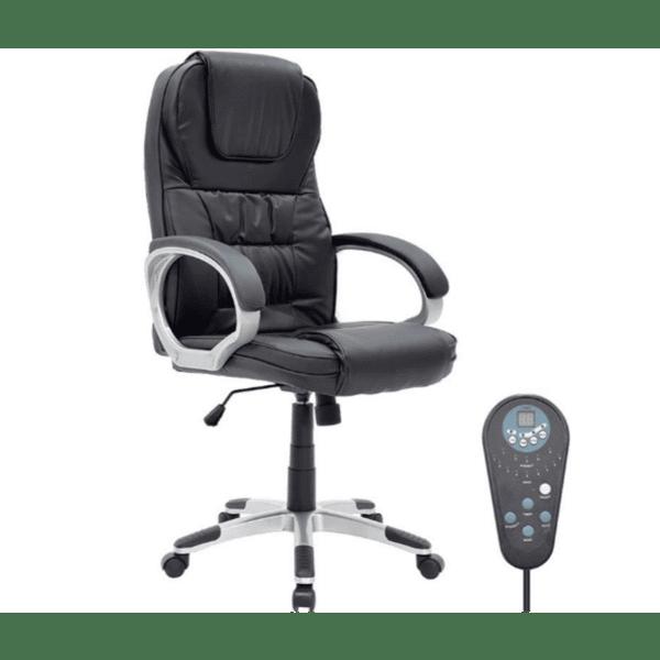 Офис стол Релакс черен масажен механизъм