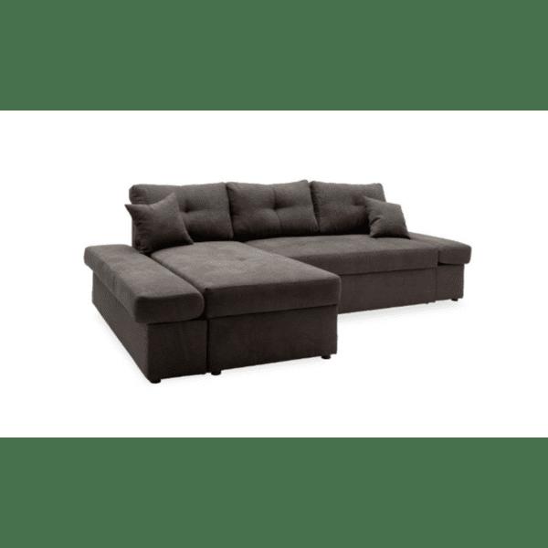 Ъглов диван легло Аризон десен ъгъл антрацит 270х166х86см