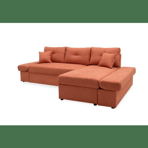 Ъглов разтегателен диван ляв ъгъл Аризон тухлен цвят 270х166х86см