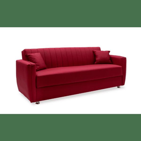 Диван-легло Majesty червен 216х85х85см