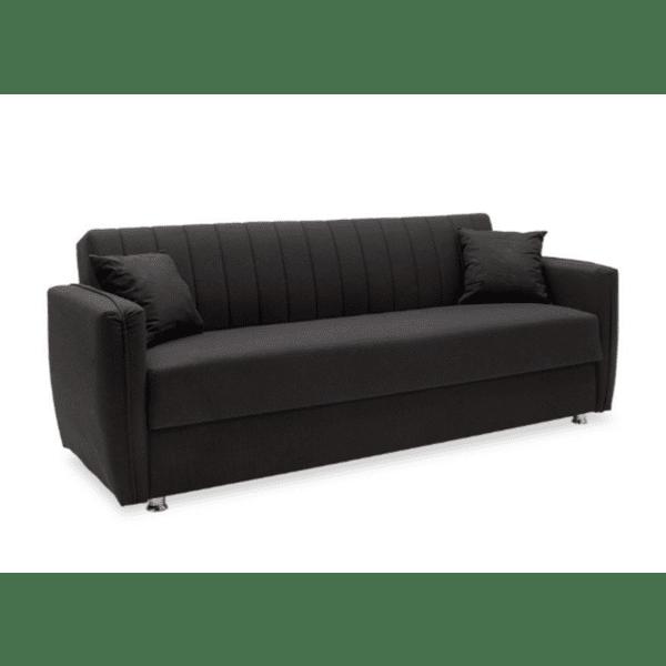 Диван-легло Majesty черен 216x85x85см