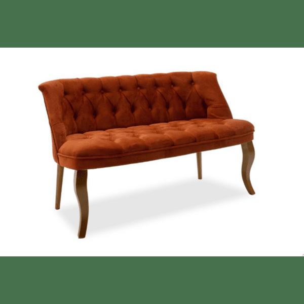 Диван Loreta тухлен цвят 123x65x73cm