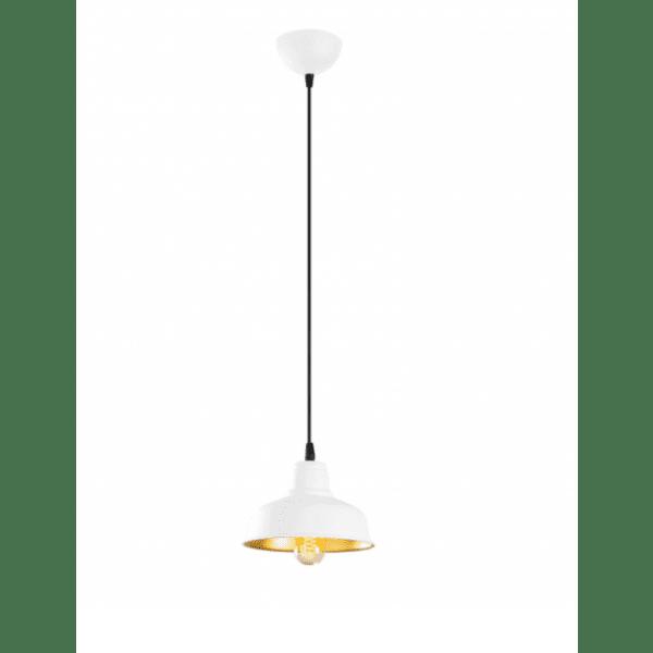 Метална таванна лампа  бял-златист цвят 19x19x108 cm.