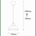 Метална таванна лампа  19x19x108 cm.