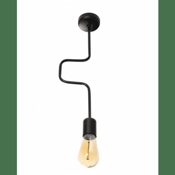 Индустриална таванна лампа черен цвят