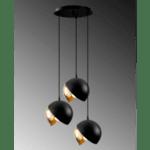 Метална таванна лампа Трио