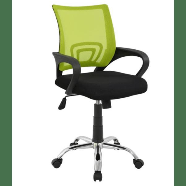 Офис стол хром Бристон-зелен