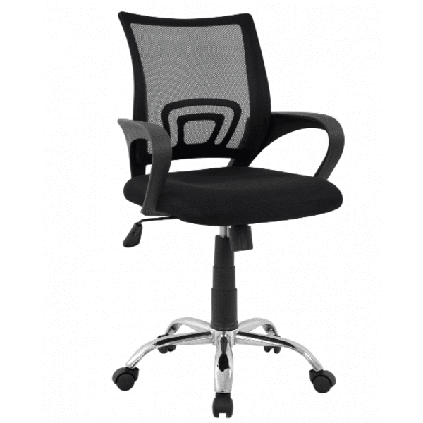 Офис стол хром Бристон -черен