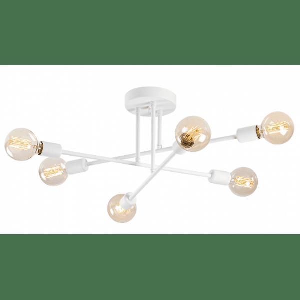 Модерна метална таванна лампа бял цвят 64x64x30 cm