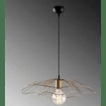 Модерна окачена таванна лампа златен цвят  Φ22x111см