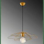 Модерна таванна лампа Риос -златен -черен цвят