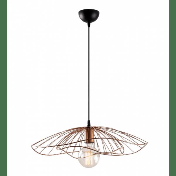 Модерна таванна лампа Медна  Φ50x111 см