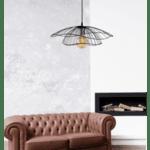 Модерна окачена таванна лампа Крема Φ50x111см