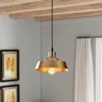 Таванна лампа Ария златист цвят  Φ22x107