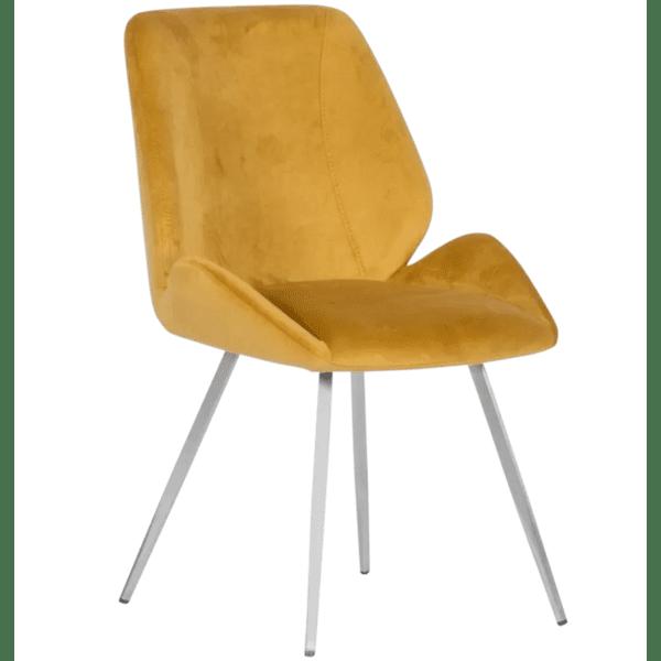 Трапезен стол KIELCE - жълт F