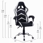 Геймърски стол Gami черен-бял цвят