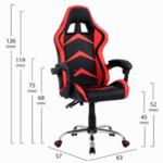 Геймърски стол Gami червен-черен цвят