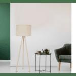 Подова лампа sonoma-крем PVC шапка Φ37x147cm