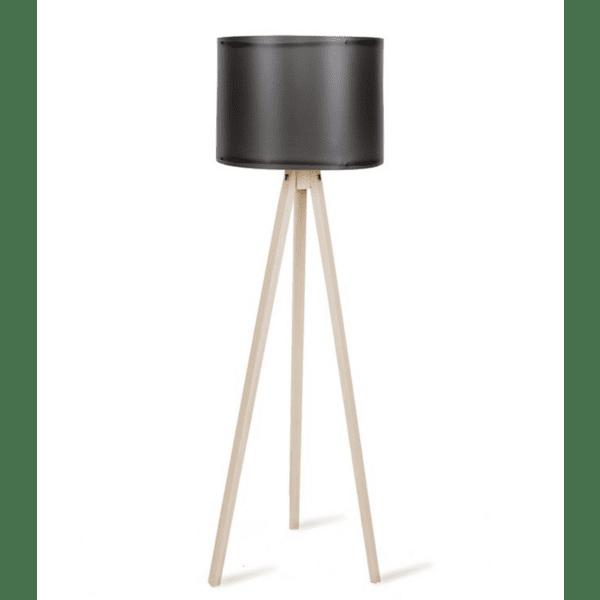 Подова лампа  крака sonoma-черна PVC шапка Φ37x147cm