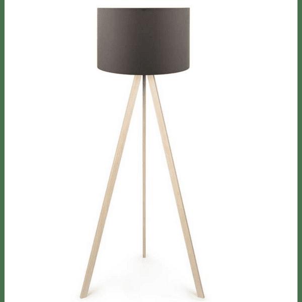 Подова лампа крака в цвят   sonoma-антрацит плат шапка Φ38x140cm