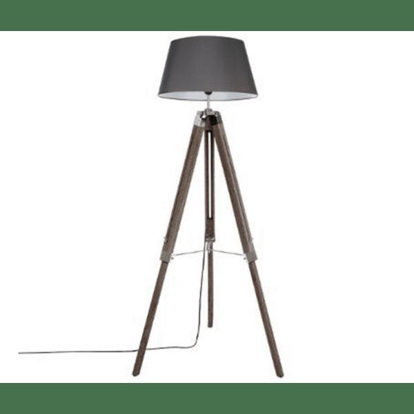 Регулируема подова лампа Runo кафяво-антрацитна шапка Φ46x145см