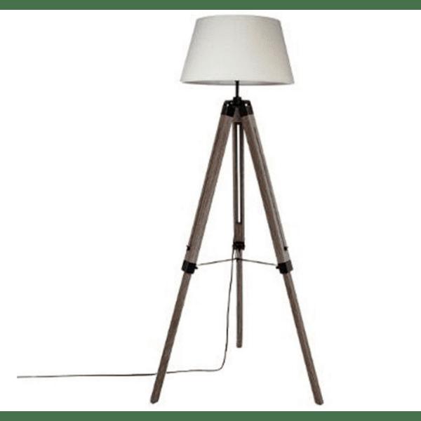 Регулируема подова лампа Runo цвят кафяв шапка бяла Φ46x145см