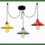 Цветна окачена таванна лампа RAINBOW