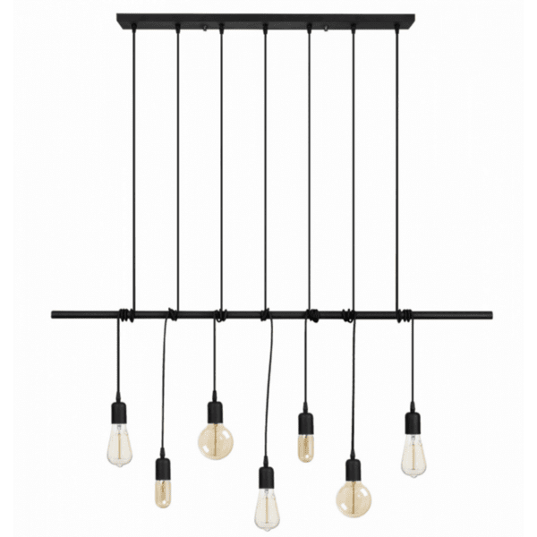 Модерна метална таванна лампа Seven  120Χ10Χ180см