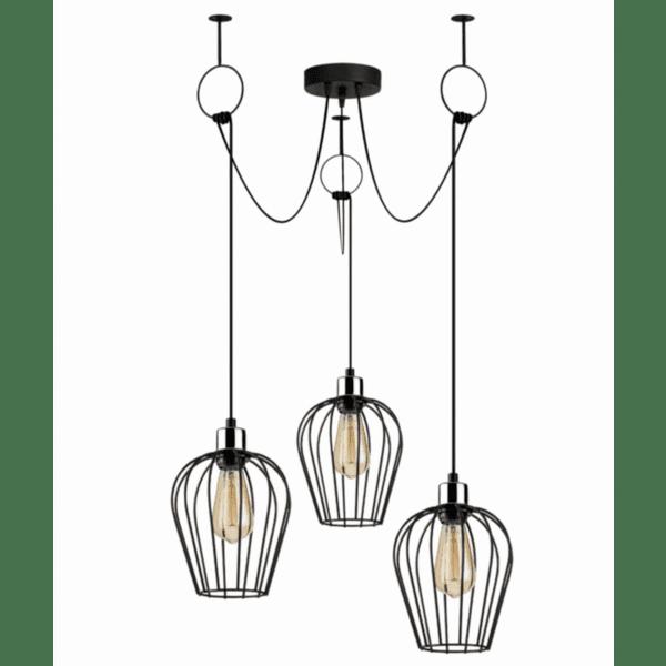 Модерна метална лампа Тея  Φ100Χ130см