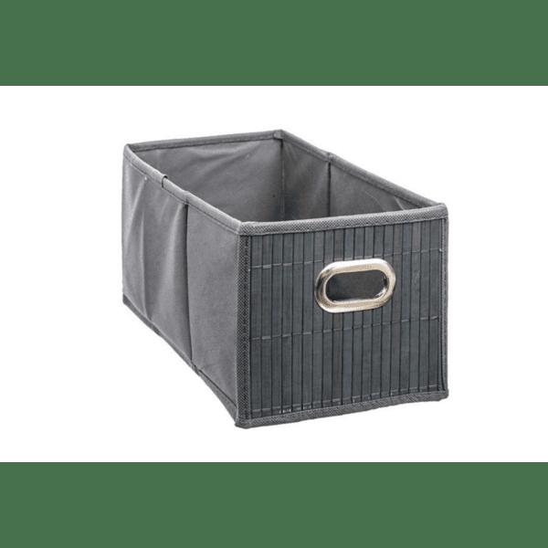 Кутия за съхранение антрацитен цвят 15х31х14см