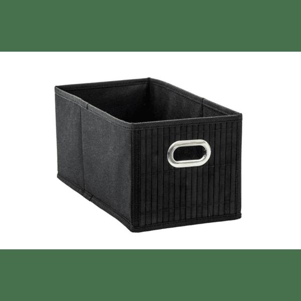 Кутия за съхранение черен цвят 15х31х14см