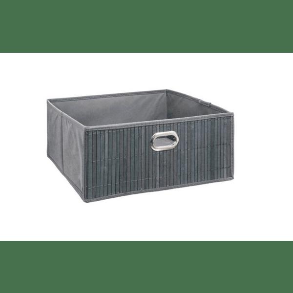 Кутия за съхранение антрацитен цвят Nat 31х31х14см