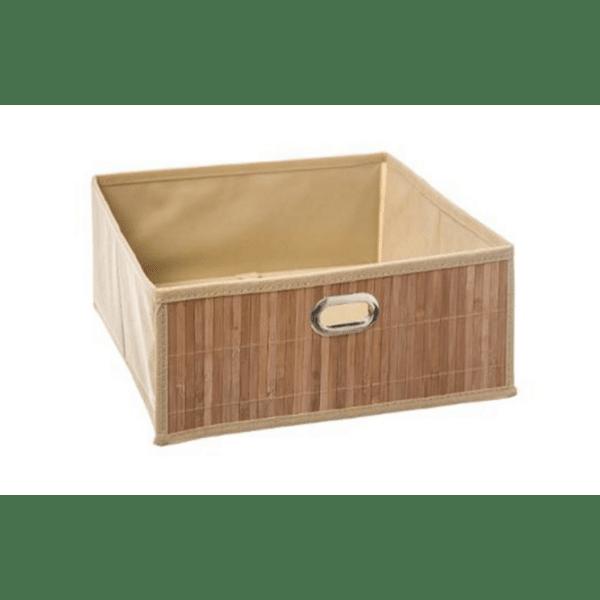 Кутия за съхранение кафяв цвят 31х31х14см