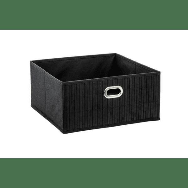 Кутия за съхранение черен цвят Nat 31х31х14см