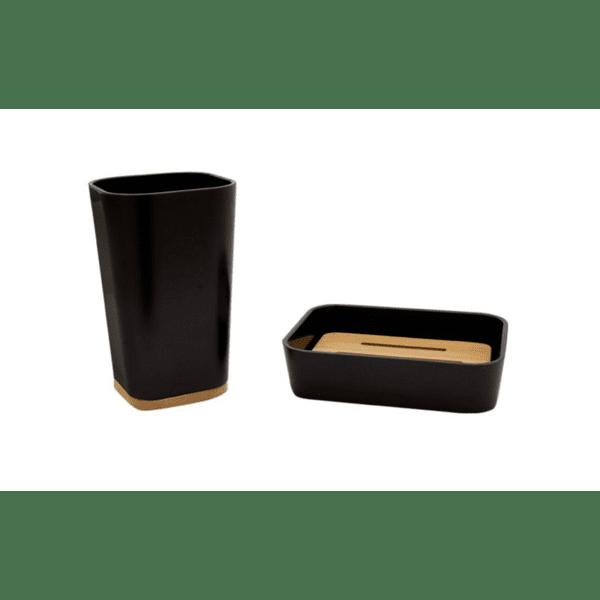Комплект аксесоари за баня Nature 2бр черен цвят