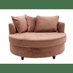 Фотьойл-диван Ophelia кадифе пепел от рози  123x120x85см