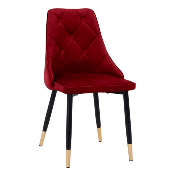 Стол Fannie червено кадифе метална рамка