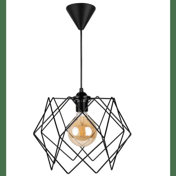 Таванна лампа PWL-0159  черна 30x30x55см