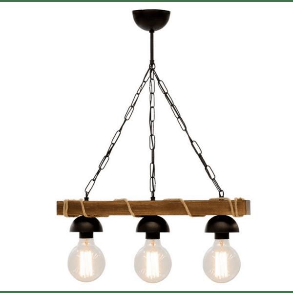 Таванна лампа PWL-0107 орех -черен цвят 50x8,5x59,5cm