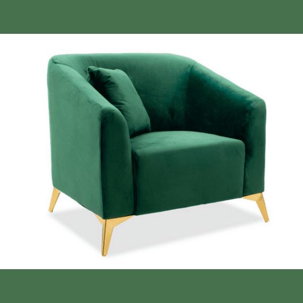 Фотьойл Pax  тъмно зелено кадифе 87x77x82см