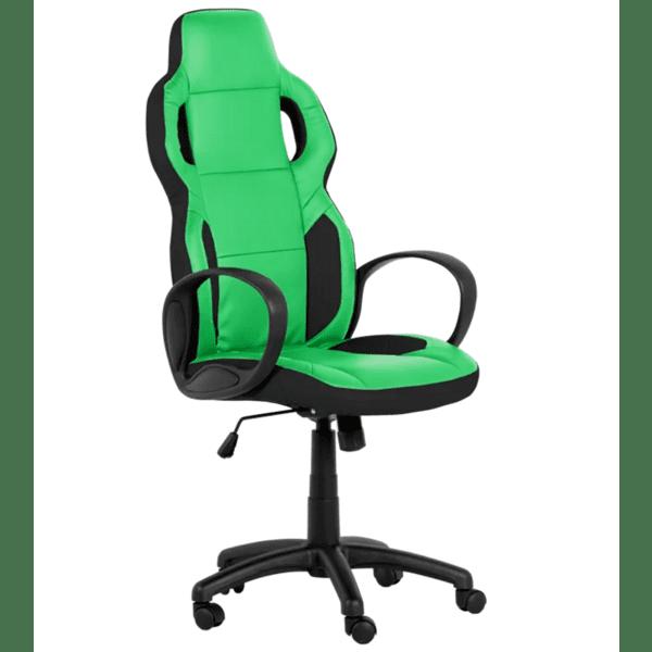 Президентски офис стол Carmen 7510 - черно-зелен