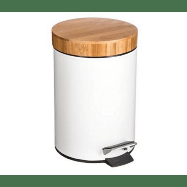 Кош за отпадъци  3L Nature  метален  бял - естествен цвят