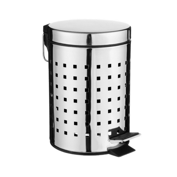 Кош за отпадъци  3L метален черен-INOX