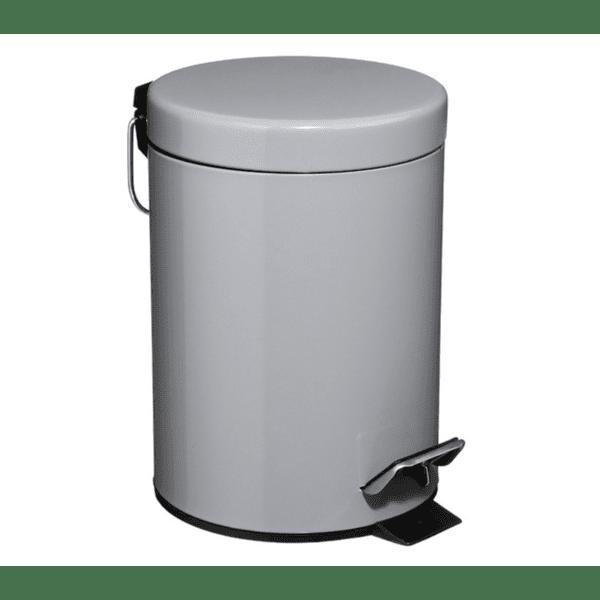 Кош за отпадъци 3L метален сив цвят