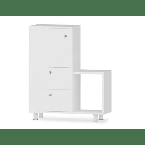 Шкаф за баня Rafe цвят бял 67,5х29,5х87см
