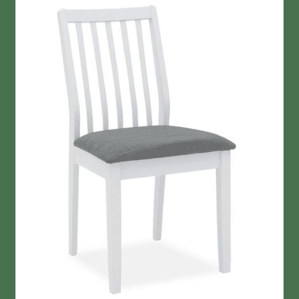 Трапезен стол Peak бял-антрацит плат