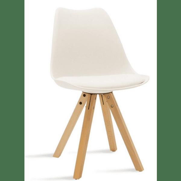 Трапезен стол Caron бял цвят