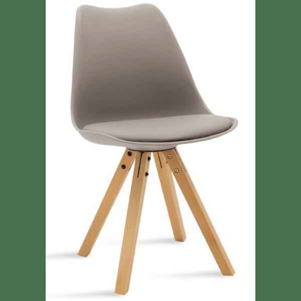 Трапезен стол Caron сив цвят
