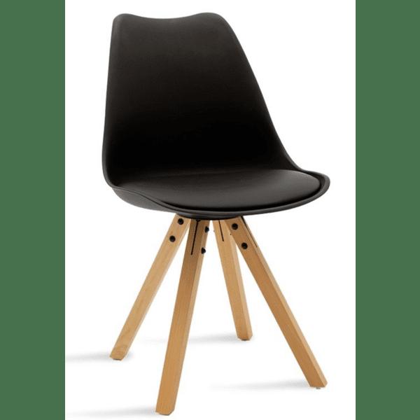 Трапезен стол Caron черен цвят